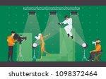 vector flat scene with... | Shutterstock .eps vector #1098372464