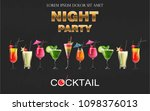 cocktail drinks vector... | Shutterstock .eps vector #1098376013