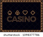 casino background with art deco ... | Shutterstock .eps vector #1098377786