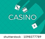 casino dice  flat cubes with a... | Shutterstock .eps vector #1098377789