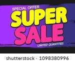super sale  poster design...   Shutterstock .eps vector #1098380996