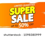 super sale  up to 50  off ... | Shutterstock .eps vector #1098380999