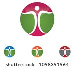 success people care logo and... | Shutterstock .eps vector #1098391964