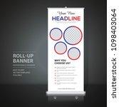 roll up banner design template  ... | Shutterstock .eps vector #1098403064