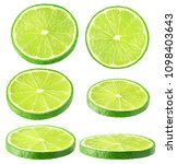 isolated lime collection.... | Shutterstock . vector #1098403643