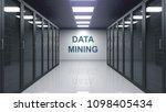 data mining caption on the wall ... | Shutterstock . vector #1098405434