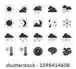 weather silhouette icons set.... | Shutterstock .eps vector #1098414608
