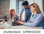 business people working in... | Shutterstock . vector #1098415220