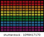 gay pride colored background... | Shutterstock .eps vector #1098417170