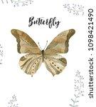 watercolor butterfly. butterfly ...   Shutterstock . vector #1098421490