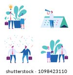 business people concept . flat... | Shutterstock .eps vector #1098423110