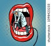 dentist jackhammer drilling... | Shutterstock .eps vector #1098423233