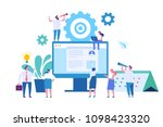 web business technology concept.... | Shutterstock .eps vector #1098423320