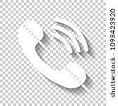 ringing phone icon. retro... | Shutterstock .eps vector #1098423920