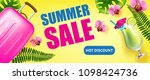 summer sale  hot discount... | Shutterstock .eps vector #1098424736