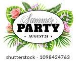 summer party august twenty five ... | Shutterstock .eps vector #1098424763