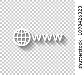 symbol of internet with globe...   Shutterstock .eps vector #1098426323