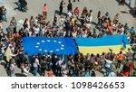 lutsk  volyn   ukraine   may 17 ... | Shutterstock . vector #1098426653