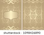 set of cards. vintage seamless... | Shutterstock . vector #1098426890