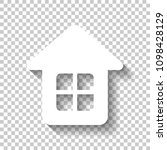 simple house icon. white icon... | Shutterstock .eps vector #1098428129