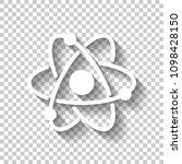 scientific atom symbol  simple...   Shutterstock .eps vector #1098428150