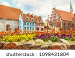 colorful old buildings in the... | Shutterstock . vector #1098431804