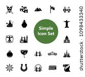 icon set of european and asian... | Shutterstock .eps vector #1098433340