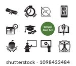 science icons set with diploma  ... | Shutterstock .eps vector #1098433484