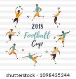 vector set with men playing... | Shutterstock .eps vector #1098435344