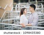 romantic tourist couple...   Shutterstock . vector #1098435380