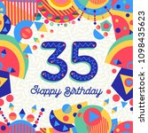 happy birthday thirty five 35... | Shutterstock .eps vector #1098435623
