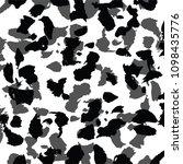 Stock vector animal skin leopard pattern 1098435776
