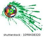 soccer ball   football with...   Shutterstock .eps vector #1098438320
