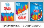 travel and tours sale... | Shutterstock .eps vector #1098438590