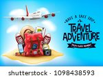 3d realistic travel items like... | Shutterstock .eps vector #1098438593