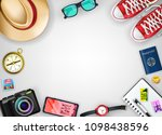 travel banner template top view ... | Shutterstock .eps vector #1098438596