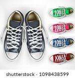 3d realistic vector mesh pair... | Shutterstock .eps vector #1098438599