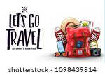 isolated let's go travel let us ... | Shutterstock .eps vector #1098439814