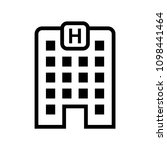 hotel building vector icon | Shutterstock .eps vector #1098441464