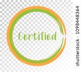 orange green certified stamp... | Shutterstock .eps vector #1098448364