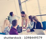 group of business people... | Shutterstock . vector #1098449579