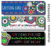 set of greeting cards. on... | Shutterstock . vector #1098449636