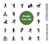 icon set of active people.... | Shutterstock .eps vector #1098450848