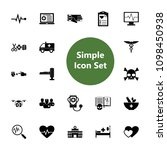 icon set of hospital  pharmacy... | Shutterstock .eps vector #1098450938
