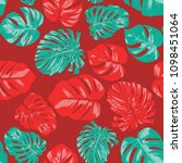 seamless tropical pattern with... | Shutterstock .eps vector #1098451064