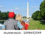 unidentified veteran couple at... | Shutterstock . vector #1098452549