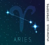 aries zodiac sign. vector... | Shutterstock .eps vector #1098458996