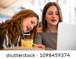 two young and trendy hipster...   Shutterstock . vector #1098459374