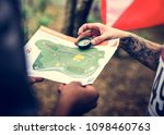 outdoor orienteering check... | Shutterstock . vector #1098460763