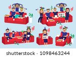illustration vector set cute... | Shutterstock .eps vector #1098463244